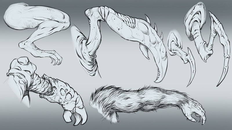 Creature Design Sketches by RAM