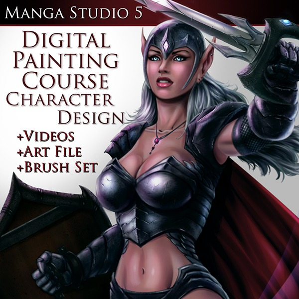 Digital Painting Course Character Design Image