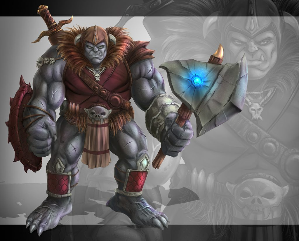 Ogre Concept Art Painted by RAM