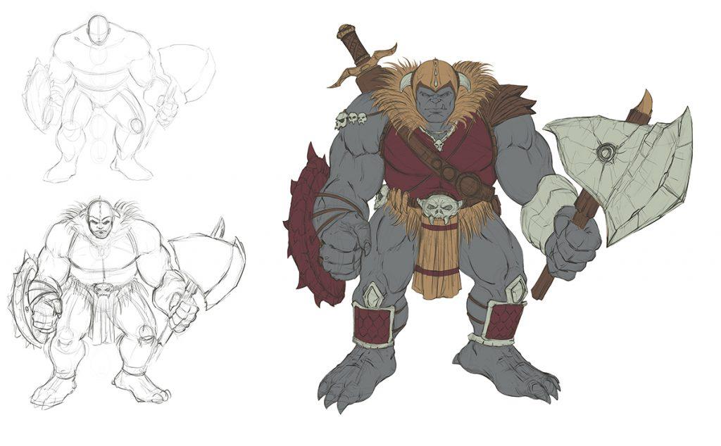 Ogre Concept Art Flats by RAM