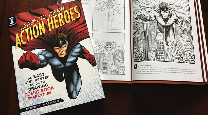 Learn To Draw Action Heroes Ram Studios Comics