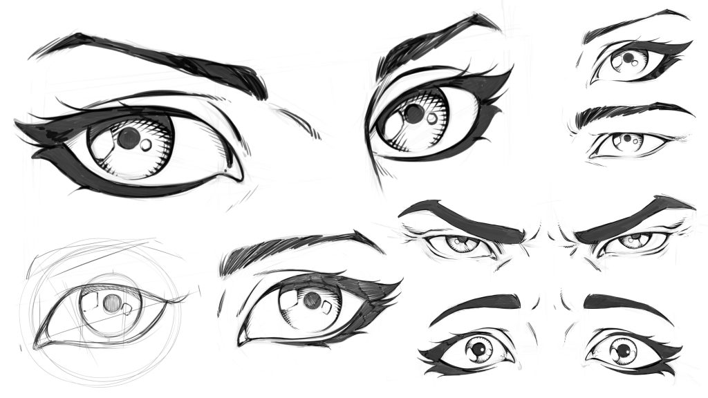 How to Draw Comic Style Eyes