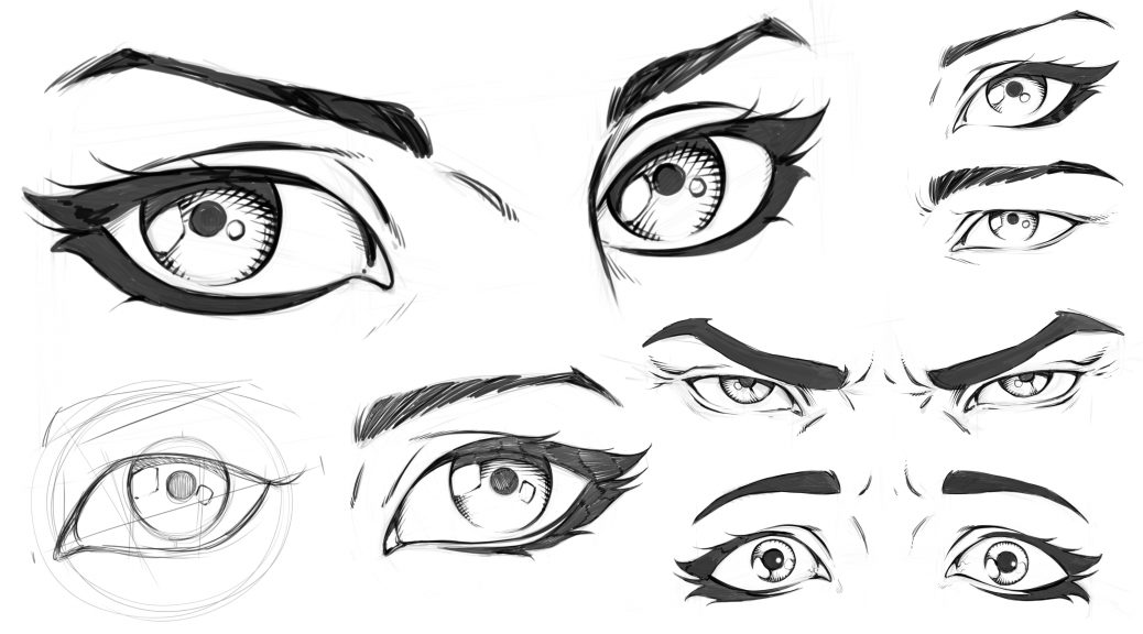 Cartoon Drawing Eyes