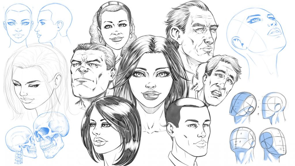 How to Draw Comic Style Heads From Any Angle