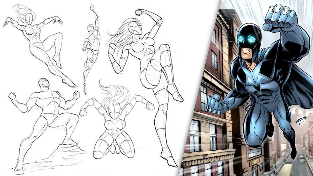 How to Draw Dynamic Superheroes Start to Finish
