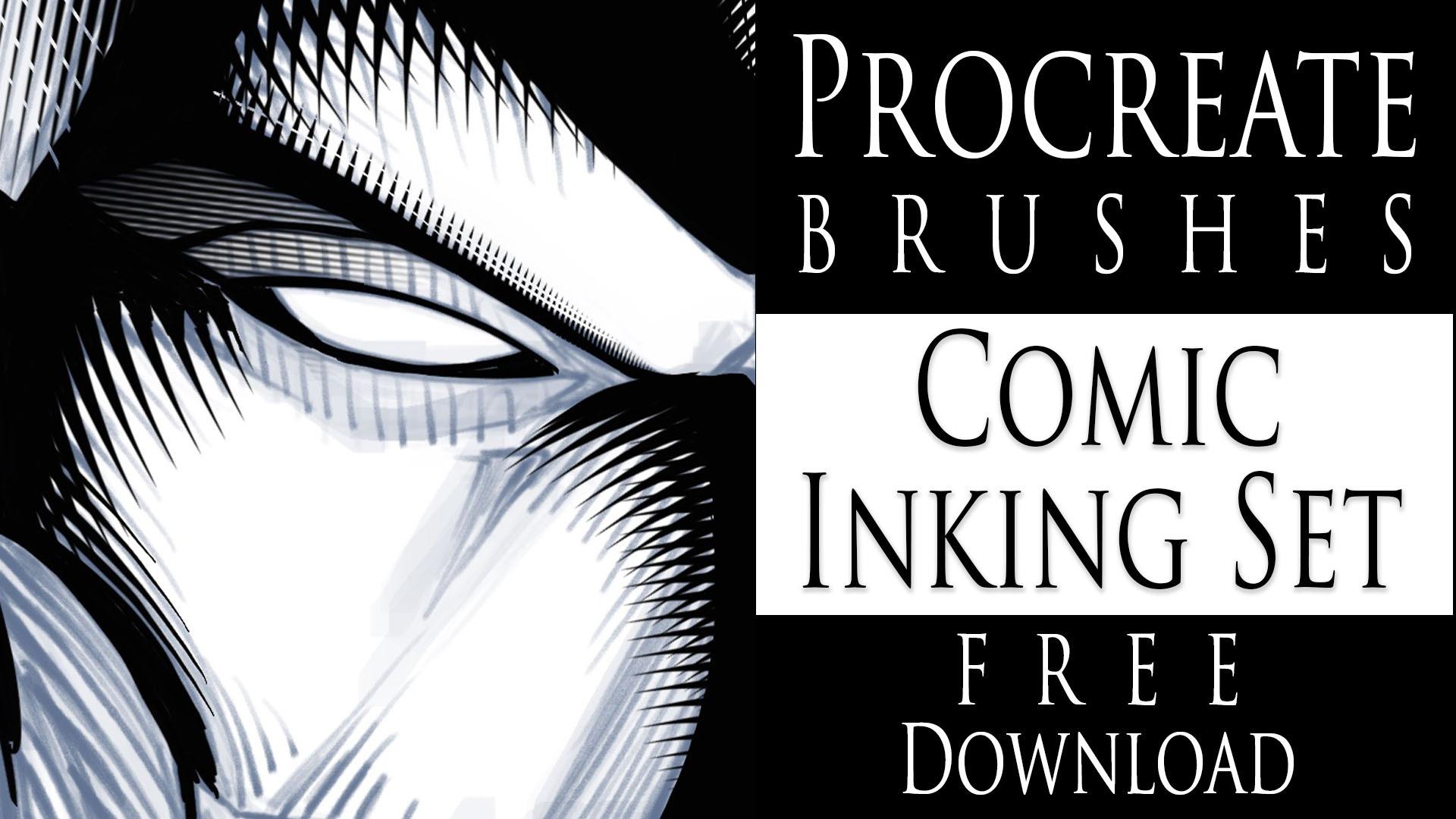 Procreate Brushes Comic Inking Set Free Download Ram Studios Comics