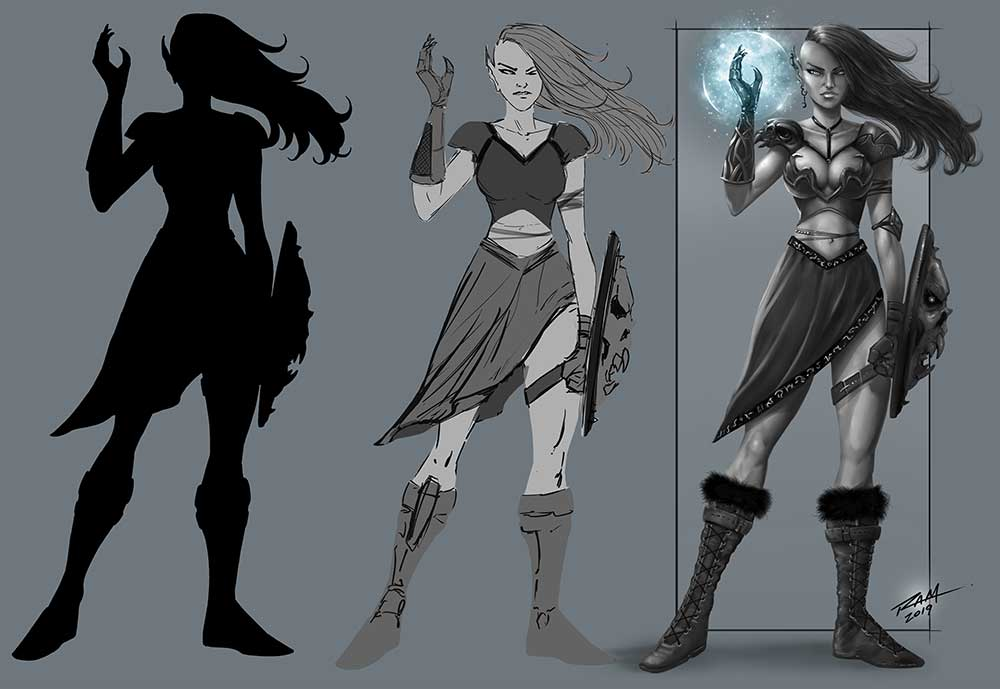 Elven Witch - Character Design - by Robert A. Marzullo